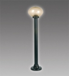Садовый светильник BRILUX KARIO 90, black/prism.smoked, арт. LO-KAR090-59