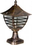 Светильник садово-парковый Feron 60W 230V E27 PL17S черное золото