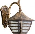 Светильник садово-парковый Feron 60W 230V E27 PL15S черное золото