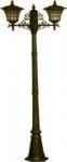 Светильник садово-парковый Feron 2x100W 230V E27 71372M черное золото