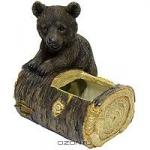 """Декоративное кашпо """"Медвежонок на пеньке"""""""