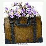 Кашпо дамская сумка коричневая
