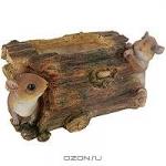 """Декоративное кашпо """"Мышки на бревне"""""""