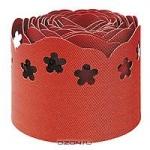 Лента фигурная, цвет: красный, 15 см х 9 м